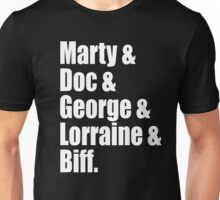Back To The Future Cast Unisex T-Shirt