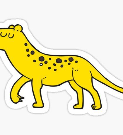 cartoon leopard Sticker
