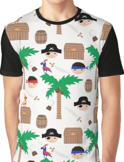 Seamless pirate colorful kids retro background pattern Graphic T-Shirt
