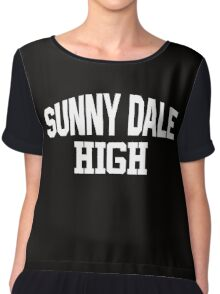 Sunnydale High white Chiffon Top