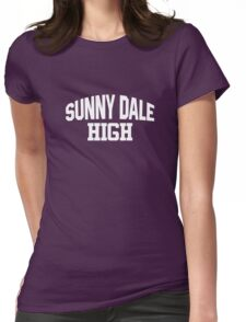 Sunnydale High white Womens Fitted T-Shirt