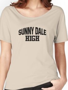 Sunnydale High black Women's Relaxed Fit T-Shirt