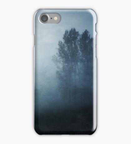 Fog in the Poplars iPhone Case/Skin