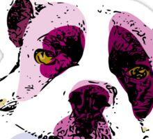 Boston Terrier Pop art watercolor- For Dog Lovers Sticker