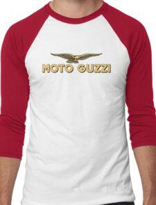 Moto Guzzi retro vintage logo Men's Baseball ¾ T-Shirt