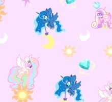 Pony Princess Print Sticker