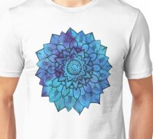 Blue Mandala Flower Design Unisex T-Shirt