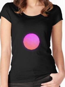 Minimalistic Pink Icosahedron Women's Fitted Scoop T-Shirt