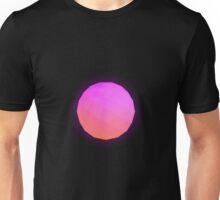 Minimalistic Pink Icosahedron Unisex T-Shirt