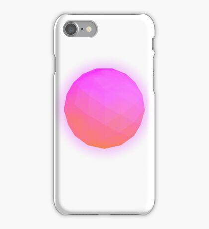 Minimalistic Pink Icosahedron iPhone Case/Skin