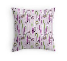 Atomic 50s Pink and Lime Throw Pillow