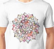 Pink Mandala Flower Design Unisex T-Shirt