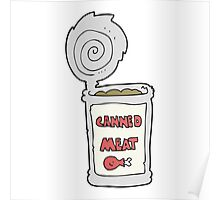 cartoon canned meat Poster