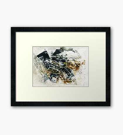 Black and brown abstract Framed Print