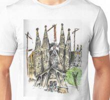 La Sagrada Familia - Watercolour & Pen Unisex T-Shirt