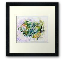 Yellow and blue abstract Framed Print