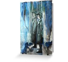 The Reichenbach Falls Together Greeting Card
