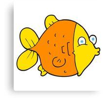 cartoon funny fish Canvas Print