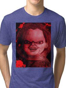 Scary Slasher  Doll Tri-blend T-Shirt