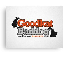 Goodkat & Baddog (Lucky Number Slevin) Canvas Print