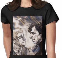 Sherlock Holmes and John Watson Share a Glance Womens Fitted T-Shirt