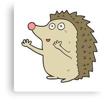 cartoon cute hedgehog Canvas Print