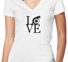 Turbo LOVE Women's Fitted V-Neck T-Shirt