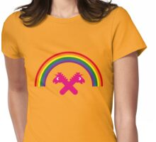 Unicorns Under The Rainbow Womens Fitted T-Shirt
