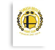 Smash Bros Fight Club Canvas Print