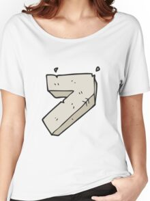 cartoon stone number seven Women's Relaxed Fit T-Shirt