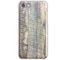 Wood planks with saw marks iPhone Case/Skin