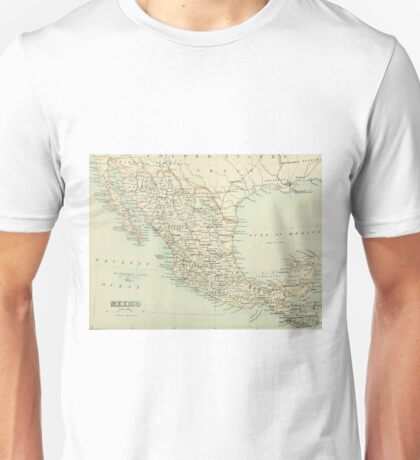 Old map of Mexico Unisex T-Shirt