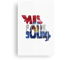 Missouri Typographic Map Flag Metal Print