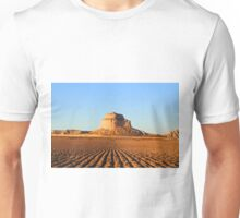Bluffs Over Plowed Harvested Field Midwest Western Nebraska Unisex T-Shirt