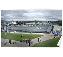 USS LST-325 Naval Ship Poster