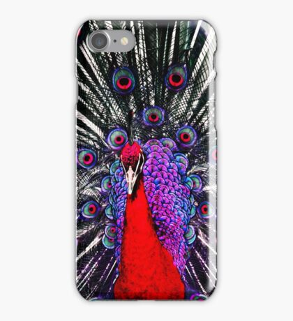 Red Peacock iPhone Case/Skin