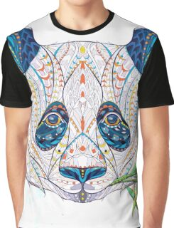 Ethnic Highly Detailed Panda Graphic T-Shirt