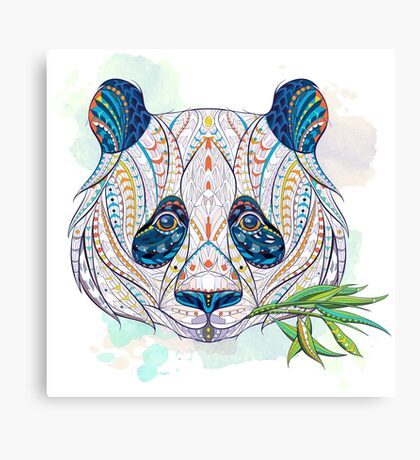 Ethnic Highly Detailed Panda Canvas Print