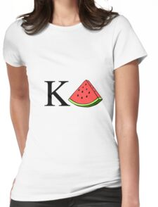 KD Watermelon Womens Fitted T-Shirt
