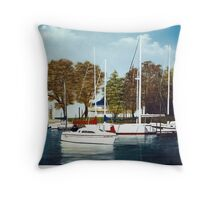 Harbor Point Dock Throw Pillow