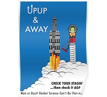 Up Up & Away! Mün Or Bust! - Kerbal Safety Poster! Poster