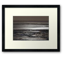 the frosted sea Framed Print