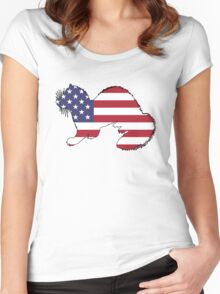 American Flag – Ferret Women's Fitted Scoop T-Shirt