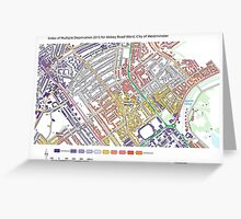 Multiple Deprivation Abbey Rd ward, Westminster Greeting Card