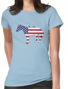 American Flag – Horse Womens Fitted T-Shirt