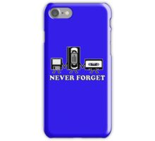 Funny Retro Never Forget Guys Gift Idea Music Mens Novelty iPhone Case/Skin