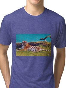 Beautiful - Tiger Tri-blend T-Shirt