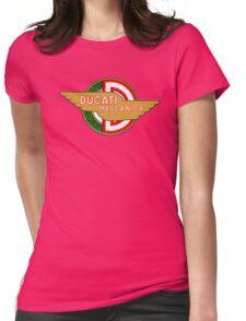 Ducati retro vintage logo Womens Fitted T-Shirt