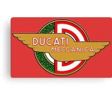 Ducati retro vintage logo Canvas Print