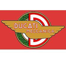 Ducati retro vintage logo Photographic Print